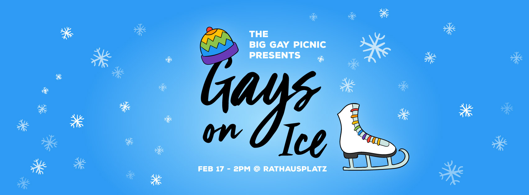 The Big Gay Picnic presents: Gays on Ice - February 17th 2018, 2PM at Wiener Eistraum, Rathausplatz